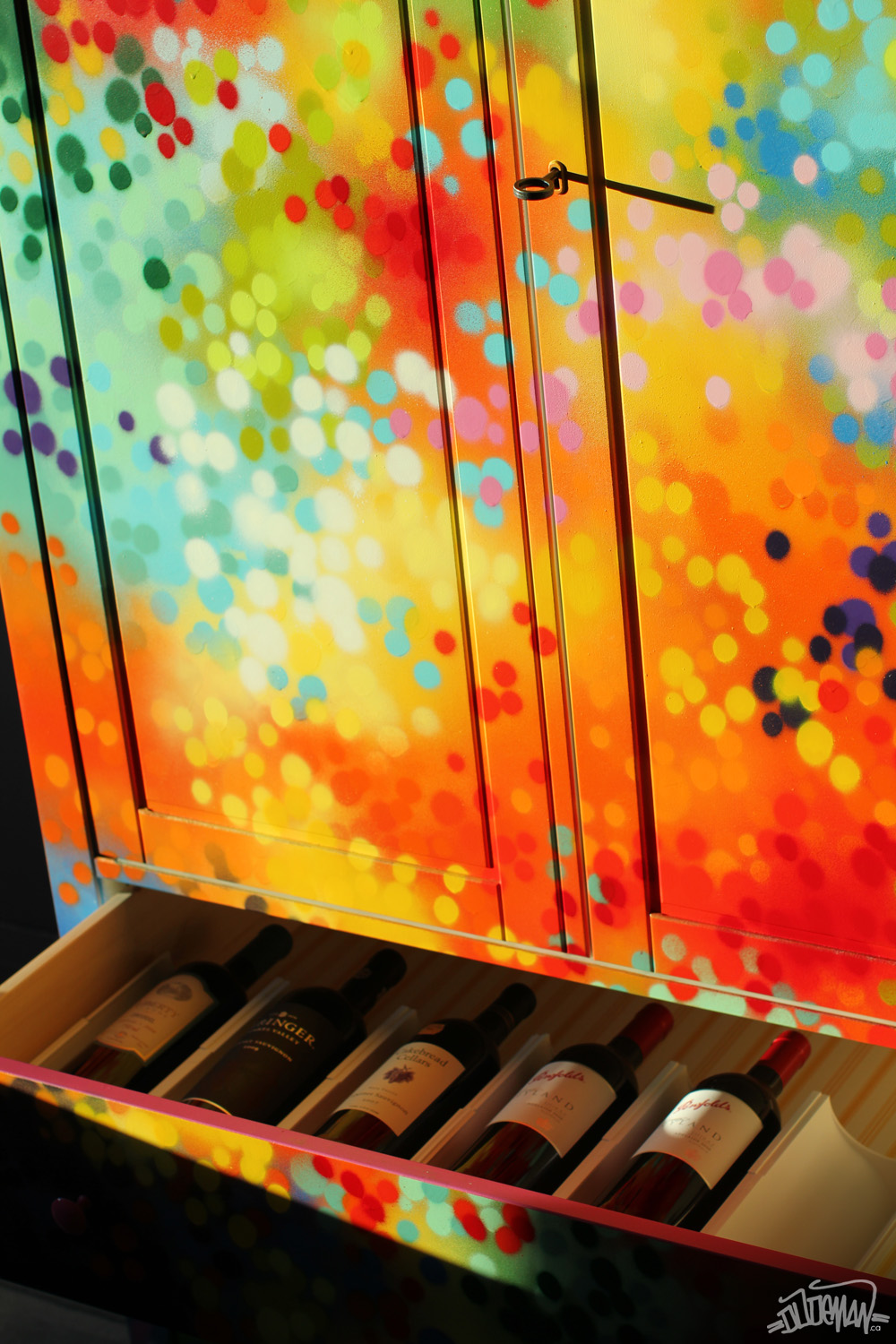 Armoire Graffiti Painting Artwork On Furniture By Artist