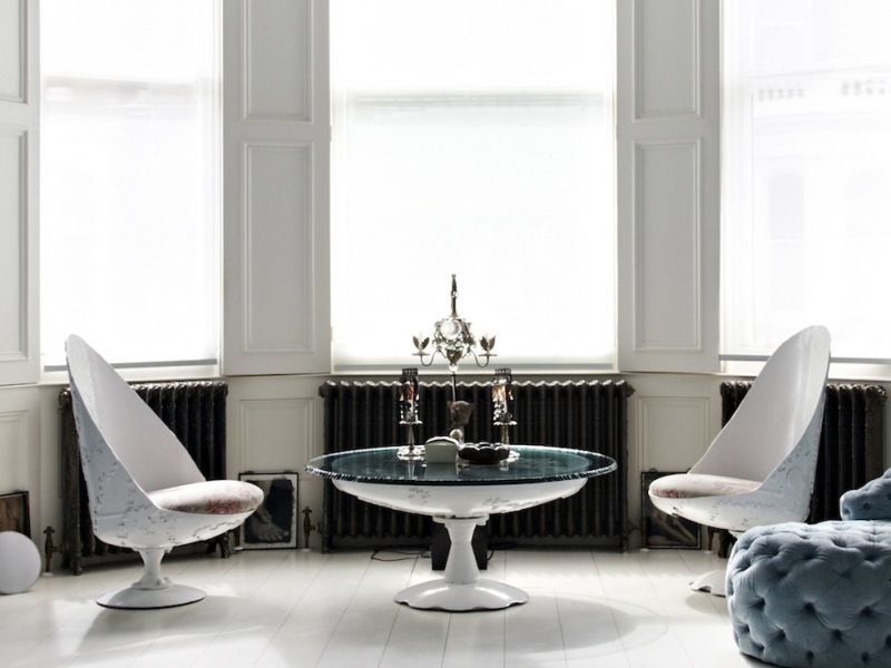 15 White Armchairs Amp Coffee Table By Jean Francois Buisson
