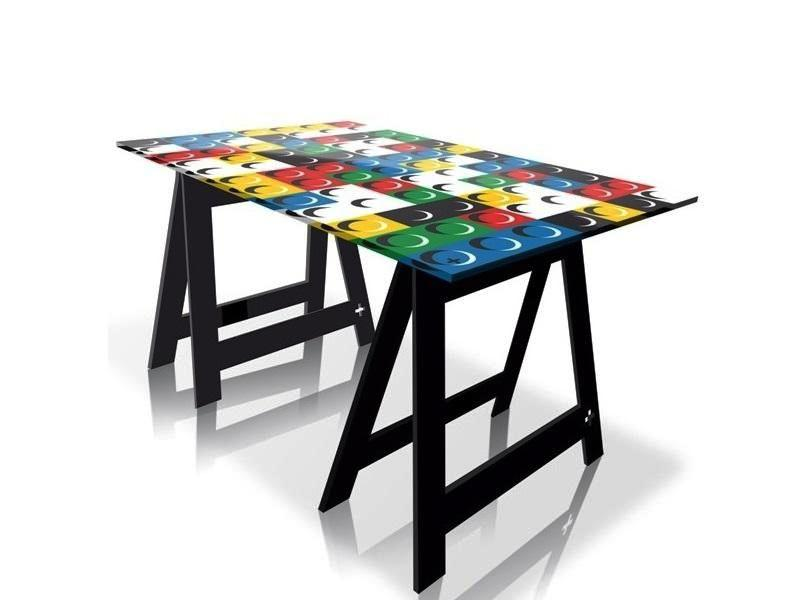 briky flaggy uky and more pop art home office desks dining tables by jean charles de. Black Bedroom Furniture Sets. Home Design Ideas