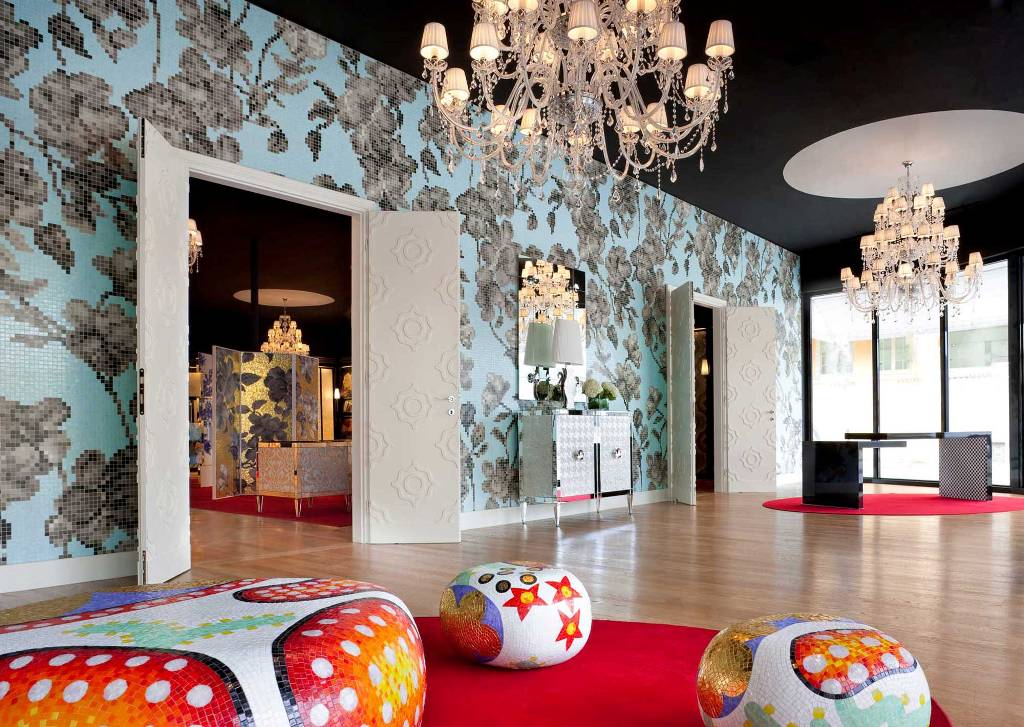 Alice Beatrice Cecilia Daphne Elena Poufs Stools Ottomans Coffee Tables Side By Marcel Wanders 2004 2017 From Bisazza At The Chicago